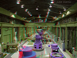 Manapouri Power Station: Click for big anaglyph